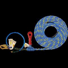 X-Line 30' Pneumatic Lifeline with Super Grab Rope Grab
