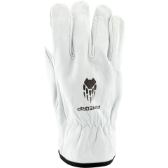 White Wolf Driver Gloves (Unlined) - LARGE