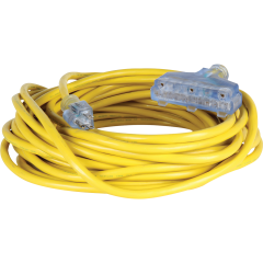 25' Triple Outlet Extension Cord - 12/3